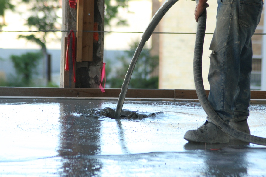 Commercial Topping a self-leveling gypsum underlayment