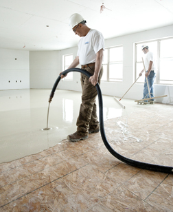 gypsum underlayment for floors by maxxon