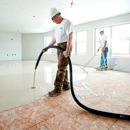 Gyp-Crete 2000 offers floor leveling for subfloor systems